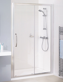 Lakes Classic Silver Semi Frame-less Slider Door 1000 x 1850mm