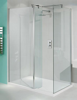 Manhattan Walk-In Shower Enclosure 1400 x 900mm Without Shower Tray