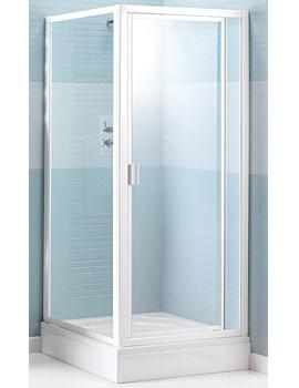 Manhattan M2 Broadway 900mm Pivot Shower Door White - M2BY90NPDW