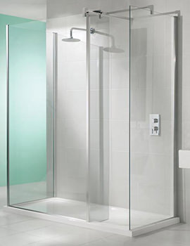 Manhattan Walk-In 3-Sided Shower Enclosure 1700 x 800mm Without Tray
