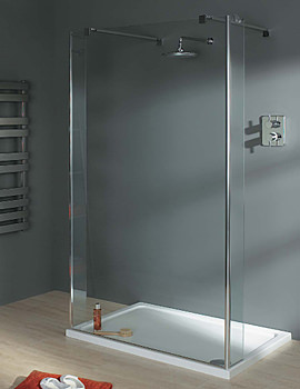 Lakes Italia Celino Walk In Shower Enclosure 1000 x 900mm