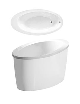 Conamore Bath With White Surround 1800 x 900mm - CONWH