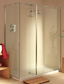 Lakes Italia Padova Walk-In Shower Enclosure 1600 x 750mm