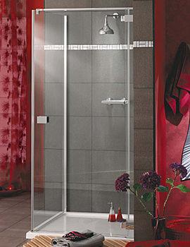 Italia Rosso Frame-less Hinged Shower Door 1000 x 1950mm