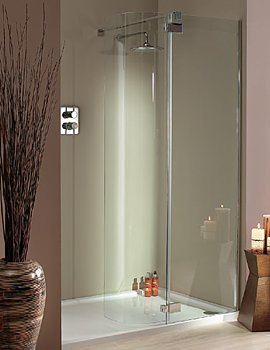 Lakes Italia Torino Frame-less Hinged Shower Door 1200 x 800mm