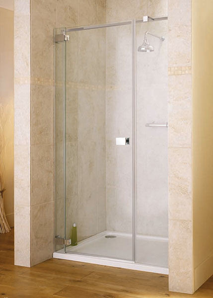 Lakes italia caldoro frame less hinged shower door 1200 x for 1200 hinged shower door
