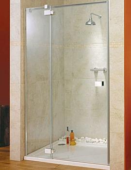 Italia Vittoria Frame-less Left-Hand Hinged Shower Door 1400mm