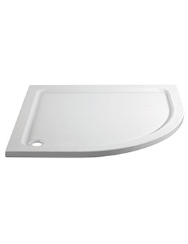 Aquadart Offset Quadrant Right Hand Shower Tray 1200 x 800mm