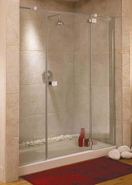Lakes italia rimini frame less hinged shower door 1700 x for 1700 shower door