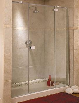 Italia Rimini Frame-less Right-Hand Hinged Shower Door 1700mm
