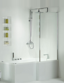 Pensato LH Airpool Shower Bath With White Panel 1700mm System 2