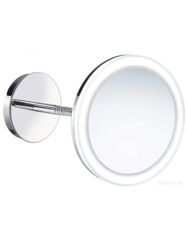 Outline Wallmounted Swing Arm LED Shaving And Make-Up Mirror