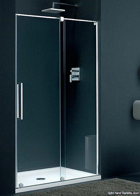 Lakes italia barletta frame less sliding shower door 1400mm for 1400mm sliding shower door