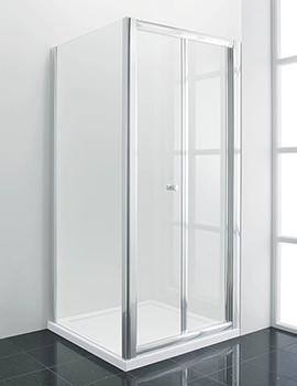 Manhattan New Era Bi-Fold Shower Door 900mm Chrome - NE90NFDC