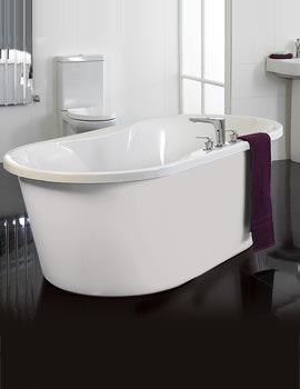 Venice Freestanding White Surround Airpool Bath - VENWHS2
