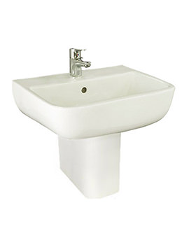 RAK Series 600 1 Tap Hole Basin With Semi Pedestal 520mm - S60052BAS1