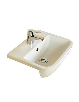 RAK Series 600 1 Tap Hole Semi Recessed Basin 520mm - S60052SR1