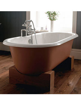 Bentley Madera Cast Iron 1700mm Bath With Oak Cradle