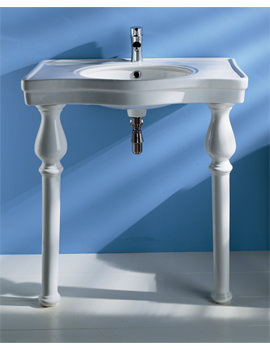 Console Alexandra 1 Tap Hole Basin With Ceramic Legs 850mm