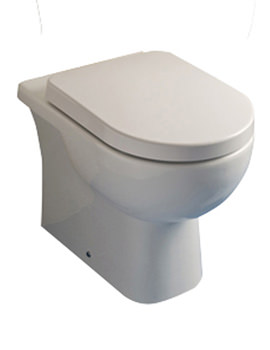 RAK Tonique Back To Wall WC Pan With Soft Close Toilet Seat 550mm