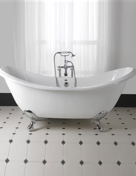 Sheraton 1800mm Slipper Bath With Ball G And H Cast Iron Feet