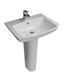 Highline 1 Tap Hole Luxury Basin With Full Pedestal 550mm