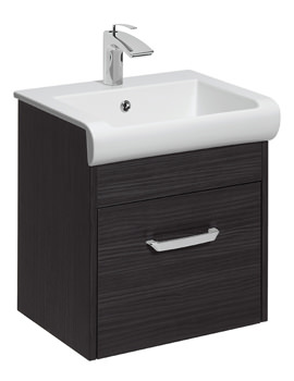 Essence 500mm Wall Hung Anthracite Vanity Unit And Basin