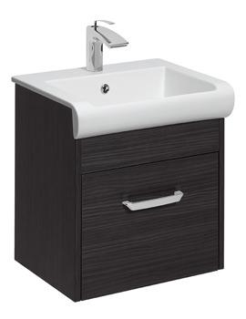 Bauhaus Essence 500mm Single Drawer Vanity Unit Anthracite
