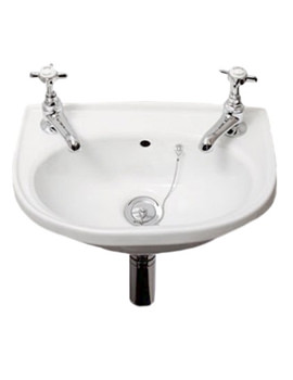 RAK Roseanna 2 Tap Hole Cloakroom Hand Basin 400mm - ROSE40