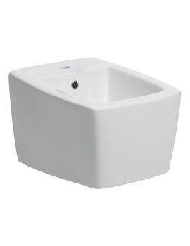 Bauhaus Touch 1 Tap Hole Wall Hung Bidet 540mm - ED8006CW