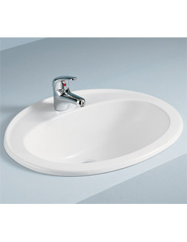 RAK Mira Over Counter Vanity Bowl 560mm 1 Tap Hole - MIROC1 - Image