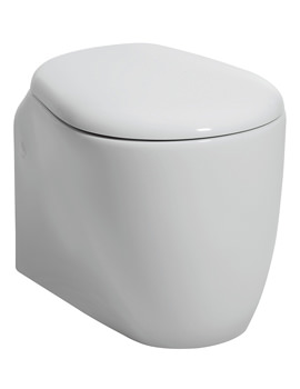 Bauhaus Celeste Wall Hung WC 520mm With Wrap Over Soft Close Seat