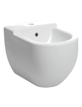 Bauhaus Stream II 1 Tap Hole Wall Hung Bidet 510mm - RG8006CW