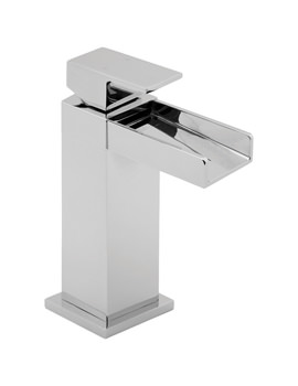 Image of Deva Sparkle Mono Basin Mixer Tap With Press Top Waste - SPA113