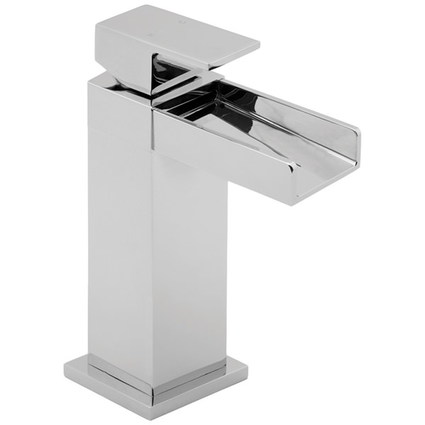 Large Image of Deva Sparkle Mono Basin Mixer Tap With Press Top Waste - SPA113
