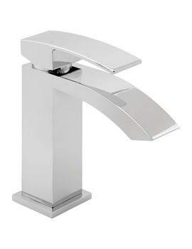 Swoop Mono Basin Mixer Tap With Press Top Waste - SWO113