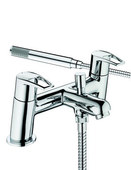 Smile Chrome Bath Shower Mixer Tap With Kit - SM BSM C