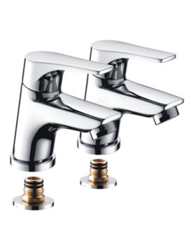 Vantage Chrome Three Forth Inch Bath Tap Pair - VT 3-4 C