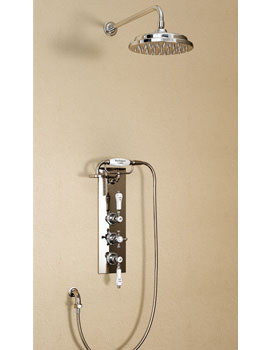 Clyde Concealed Thermostatic Valve With Straight Arm And 9 Inch Rose