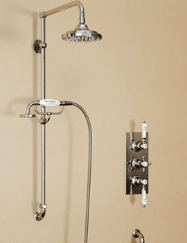Clyde Concealed Thermostatic Valve With Vertical Riser And Arm