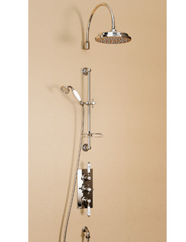 Clyde Concealed Thermostatic Valve With Curved Arm And Rose