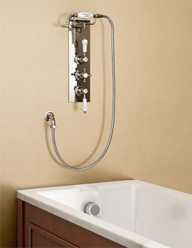 Clyde Concealed Thermostatic Shower Valve With Cradle And Handset