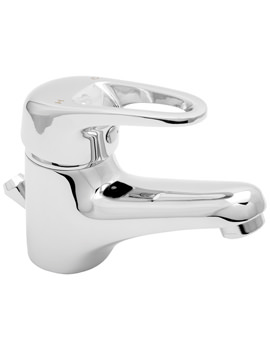 Lace Mono Basin Mixer Tap With Press Top Waste - LACE113
