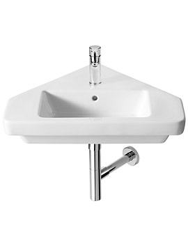 Dama-N Wall Hung Corner Basin 650mm With Fixing Kit - 32778C000
