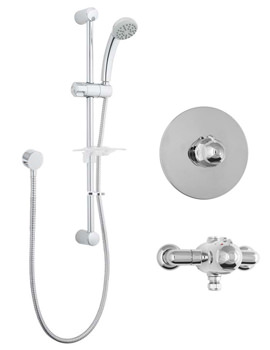 Azure Concentric Thermostatic Shower Valve With 1 Function Kit
