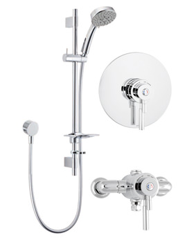 Vision Concentric Thermostatic Shower Valve With 5 Function Kit