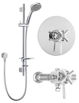 Envy Concentric Thermostatic Shower Valve With 5 Function Kit