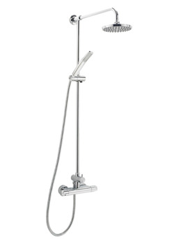 Dynamic Thermostatic Bar Shower With Rigid Riser Kit And Diverter