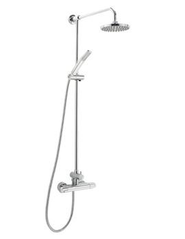 Deva Dynamic Thermostatic Bar Shower With Rigid Riser Kit And Diverter