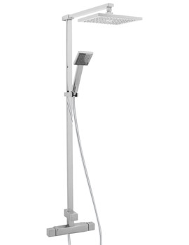 Image of Deva Savvi Thermostatic Bar Shower With Rigid Riser Kit And Diverter